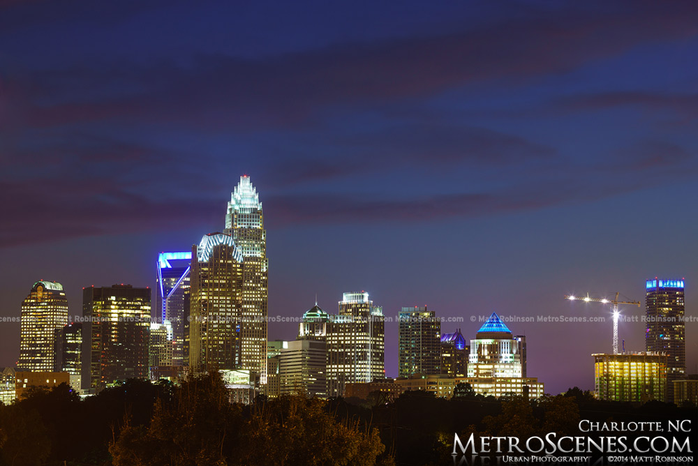 Charlotte Skyscrapers at night