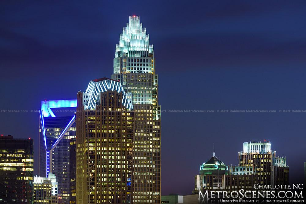 Charlotte NC Buildings at night