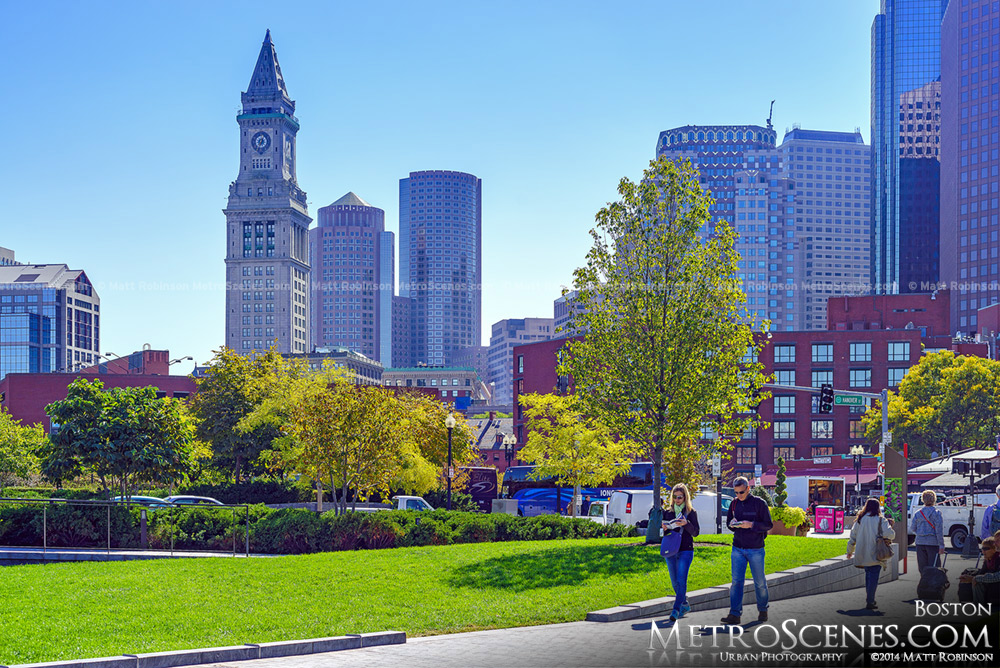 Early Fall from the Rose Fitzgerald Kennedy Greenway