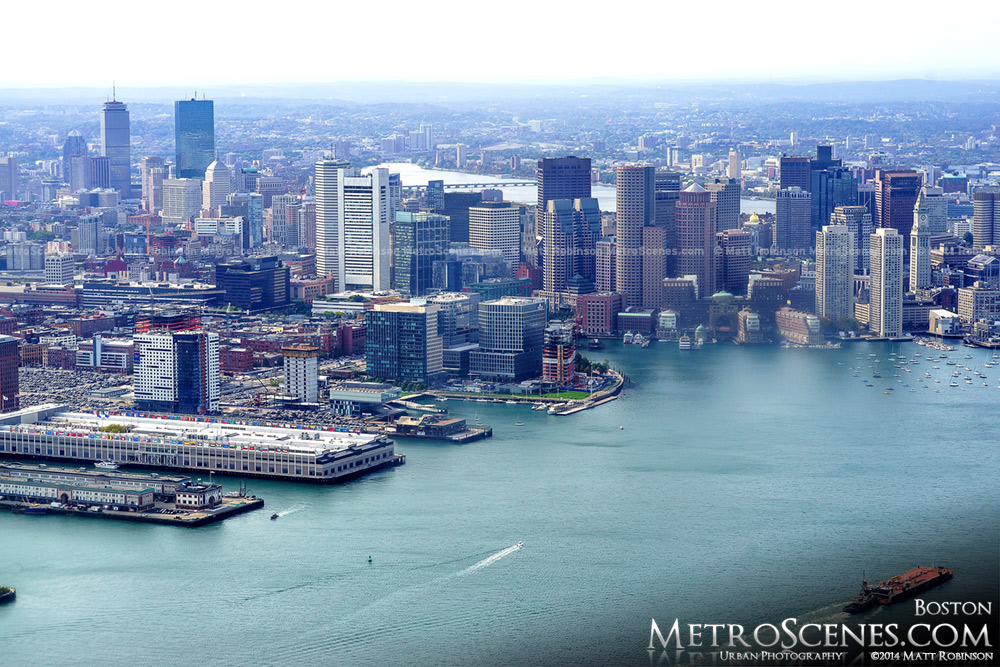 Boston Massachusetts Aeriel Photograph