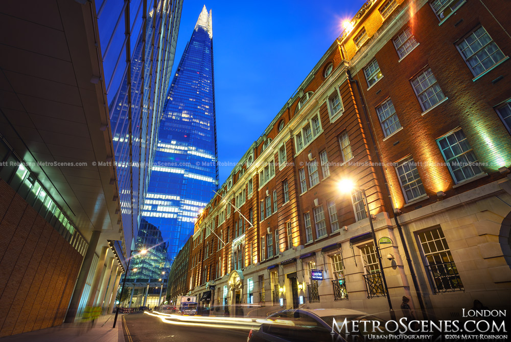 The Shard viewed from London Bridge Street