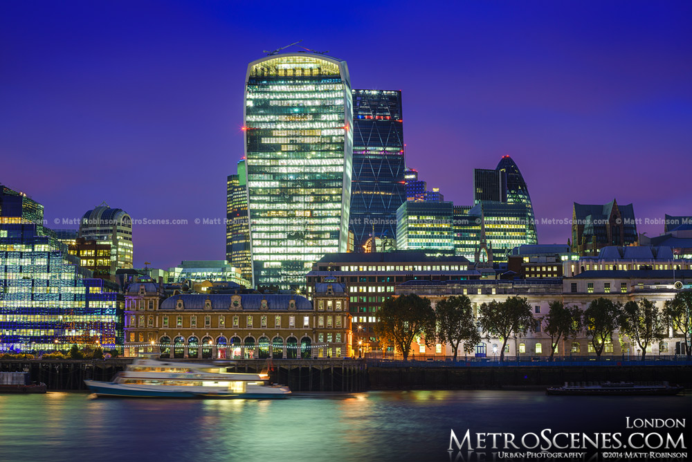 20 Fenchurch Street reflects in the River Thames