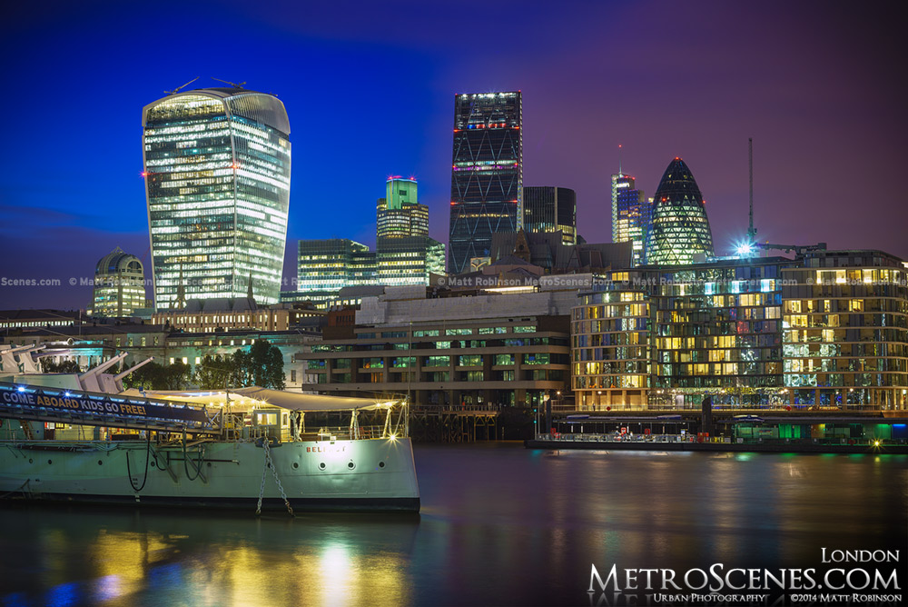 The London Skyline in late 2014