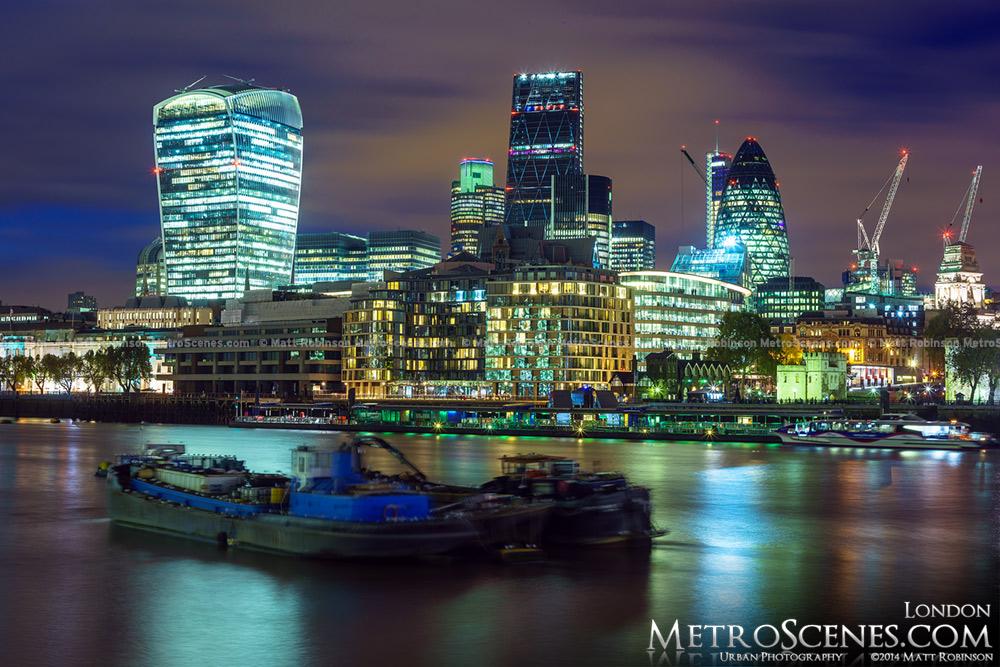 The 2014 London Skyline