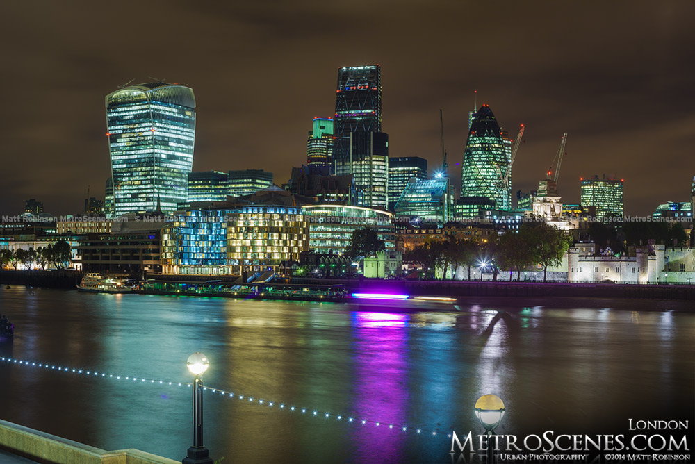 Reflections of the London Skyline
