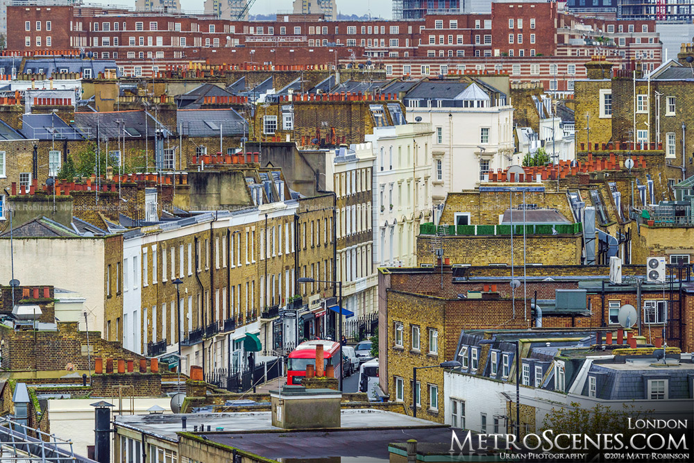 Rows of London buildings