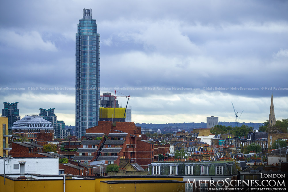 Vauxhall Tower rises over Victoria London