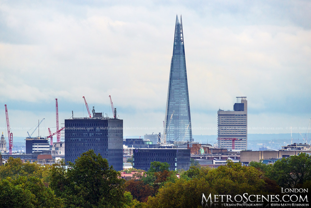 The Shard from Primrose Hill London