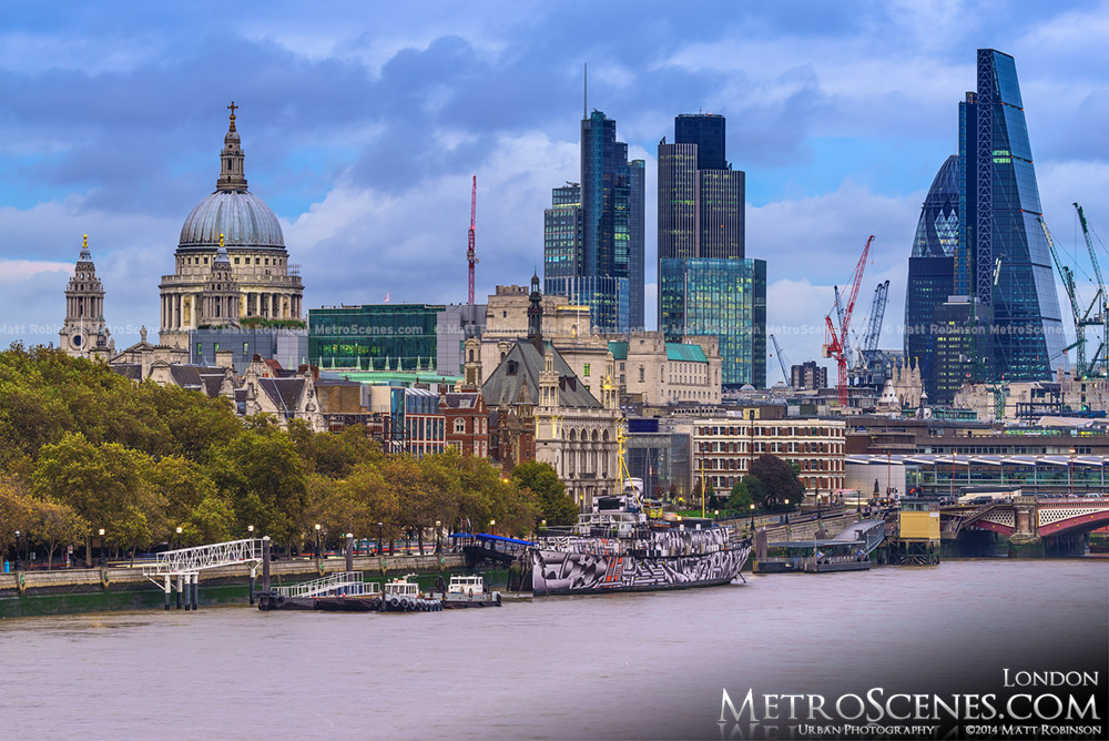 The City of London Skyline at the St. Paul's Cathedral