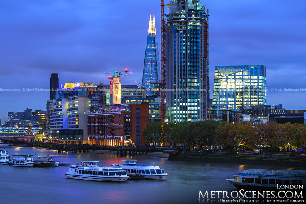OXO tower, The Shard and South Bank tower