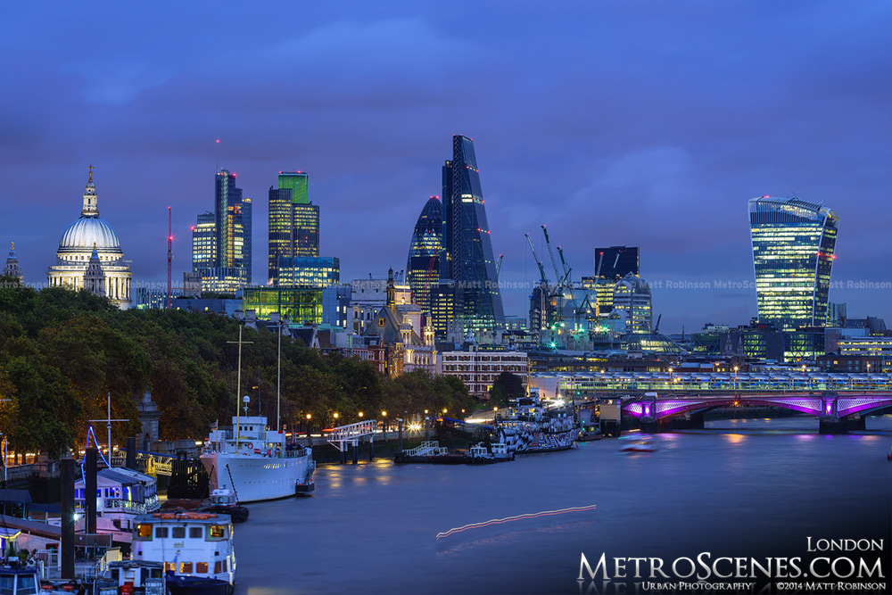 The City of London Skyline in Late 2014