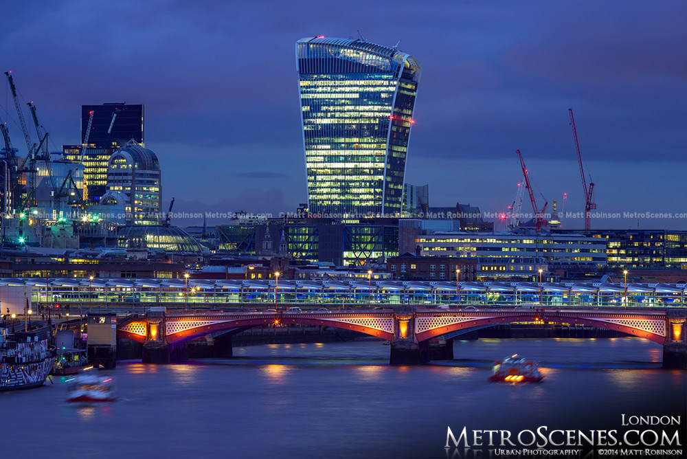 20 Fenchurch Street Tower at night