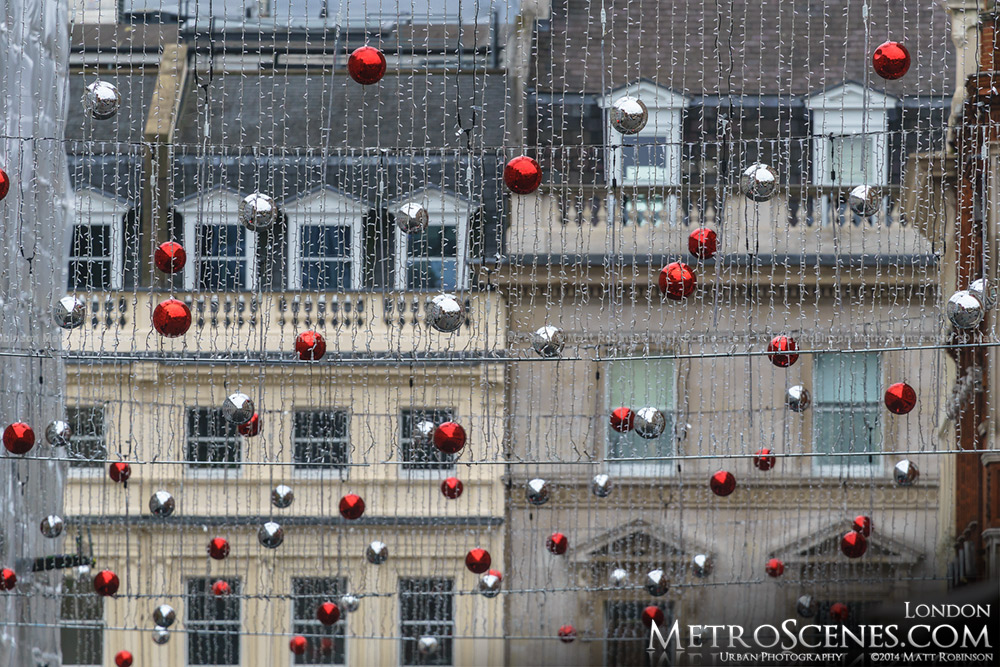 Christmas decorations at Covent Gadren