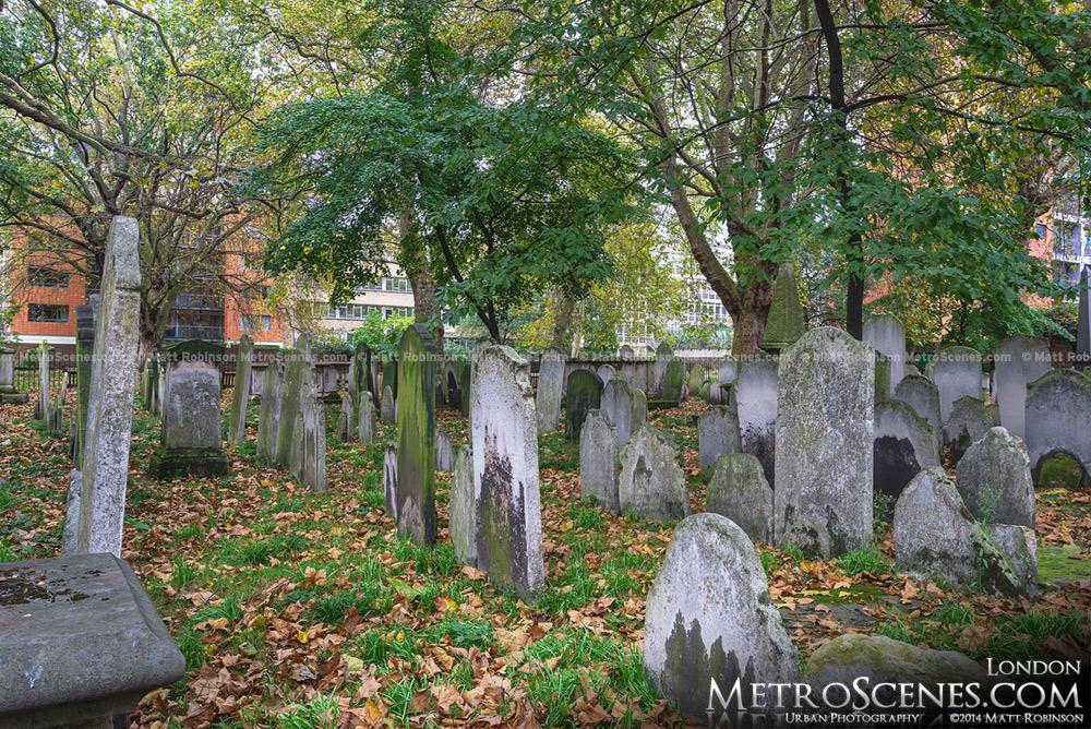 Gravestones Bunhill Fields Burial Grounds