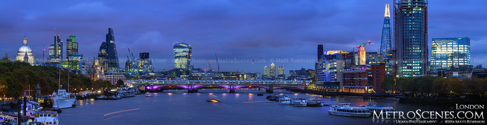 Panorama of the 2014 London Skyline