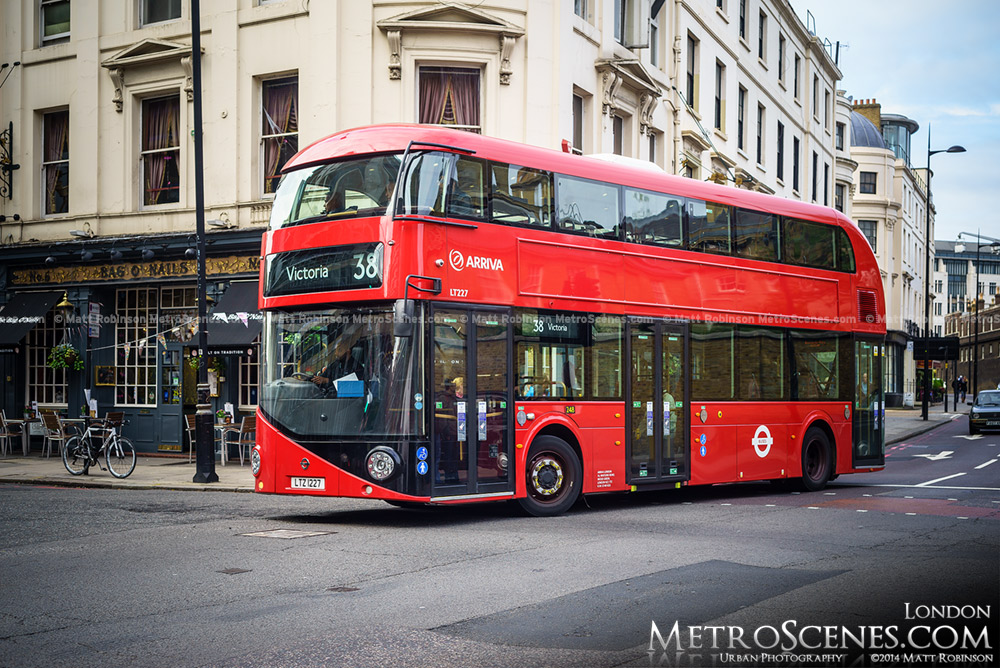 A Red New Routemaster Double Decker Bus in London