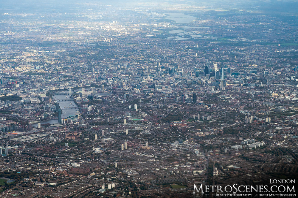 Aerial photograph of London, England 2014