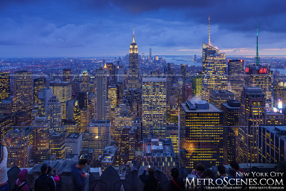 The City of New York at night