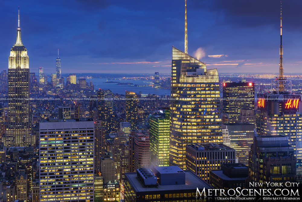 Empire State Building and Bank of America Building with Times Square