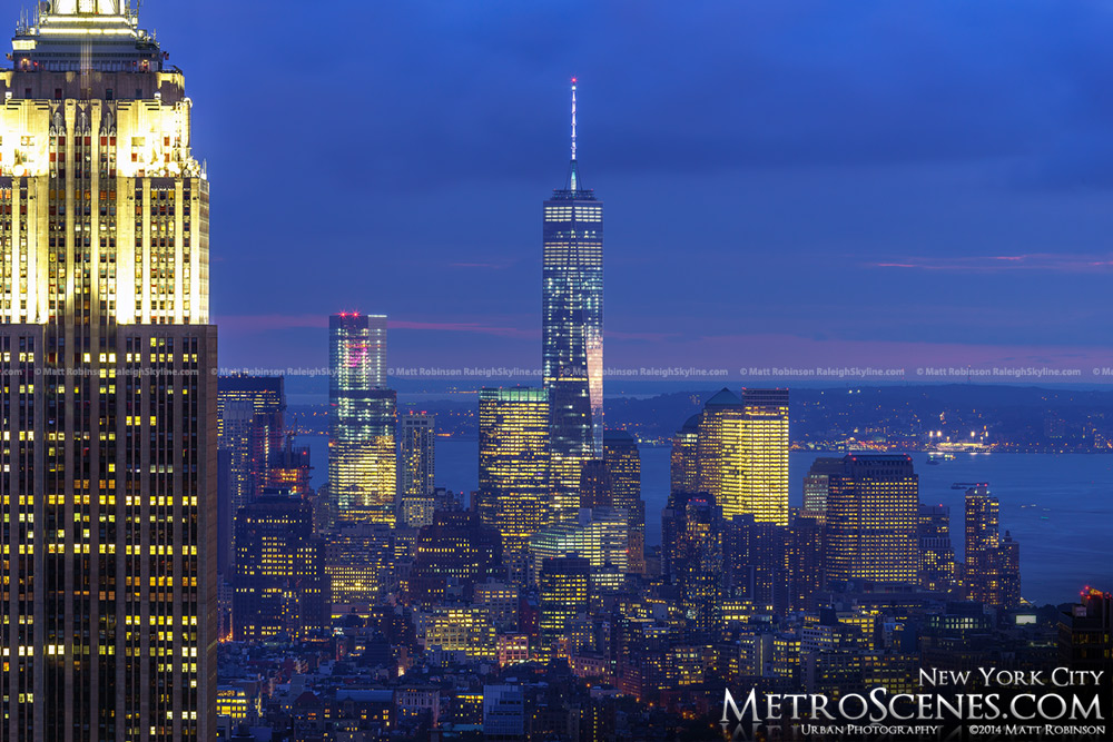 One World Trade Center from Midtown NYC