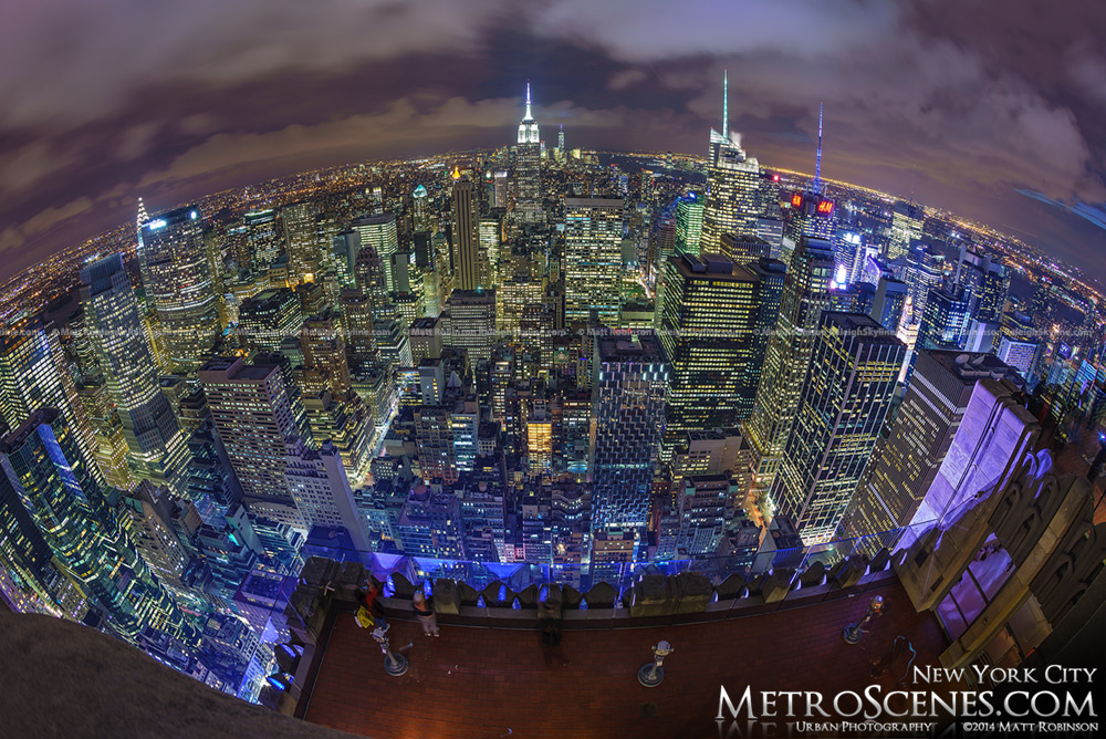 Fisheye of New York City Skyline
