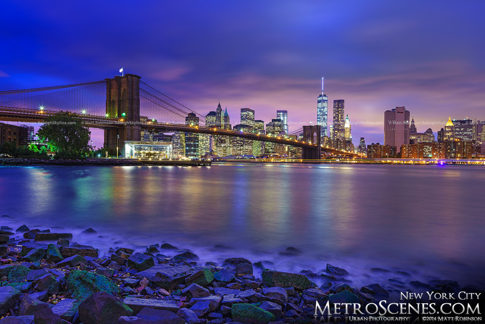 Manhattan Skyline from Brooklyn at night