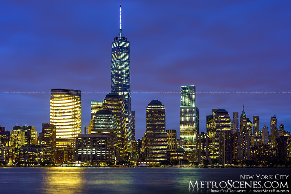 October 2014 Lower Manhattan Skyline at night