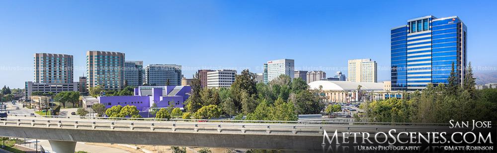 San Jose Skyline Panorama