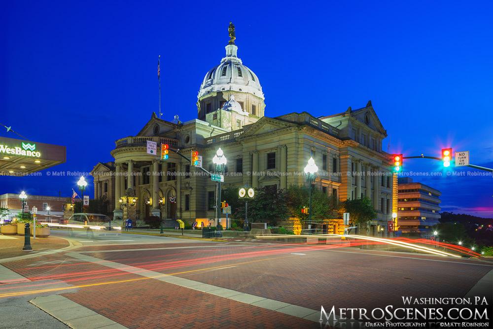 Washington PA County Courthouse at night