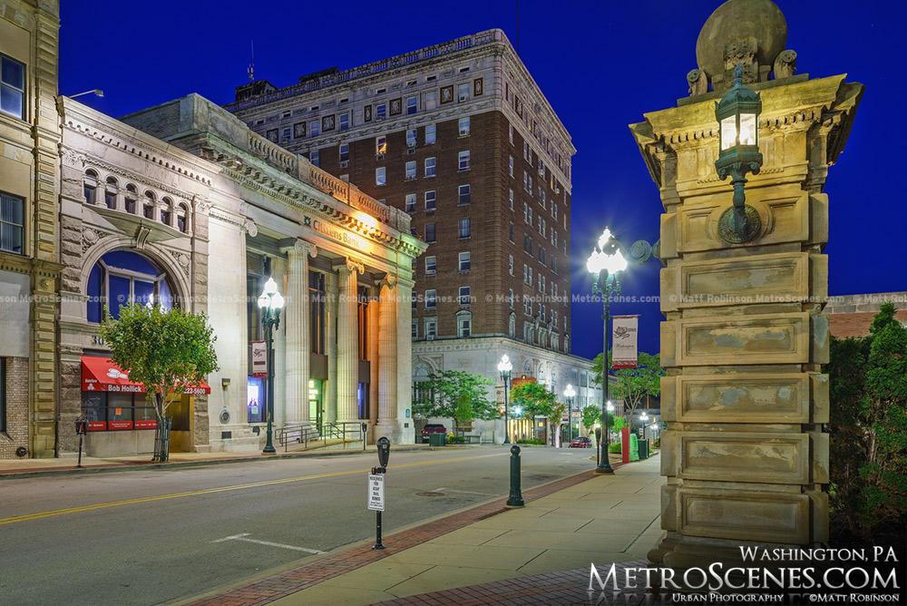 George Washington Hotel and Citizens Bank in Washington, PA
