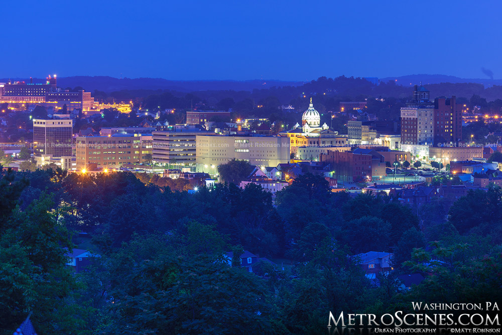 Skyline of Washington, PA