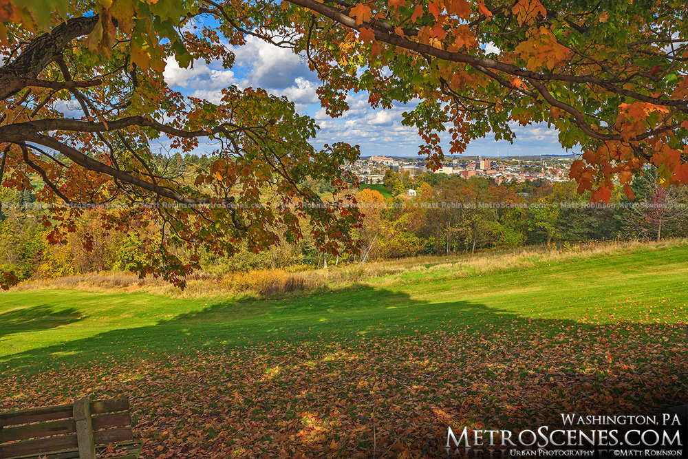Washington Pa in the Fall from the Cemetery