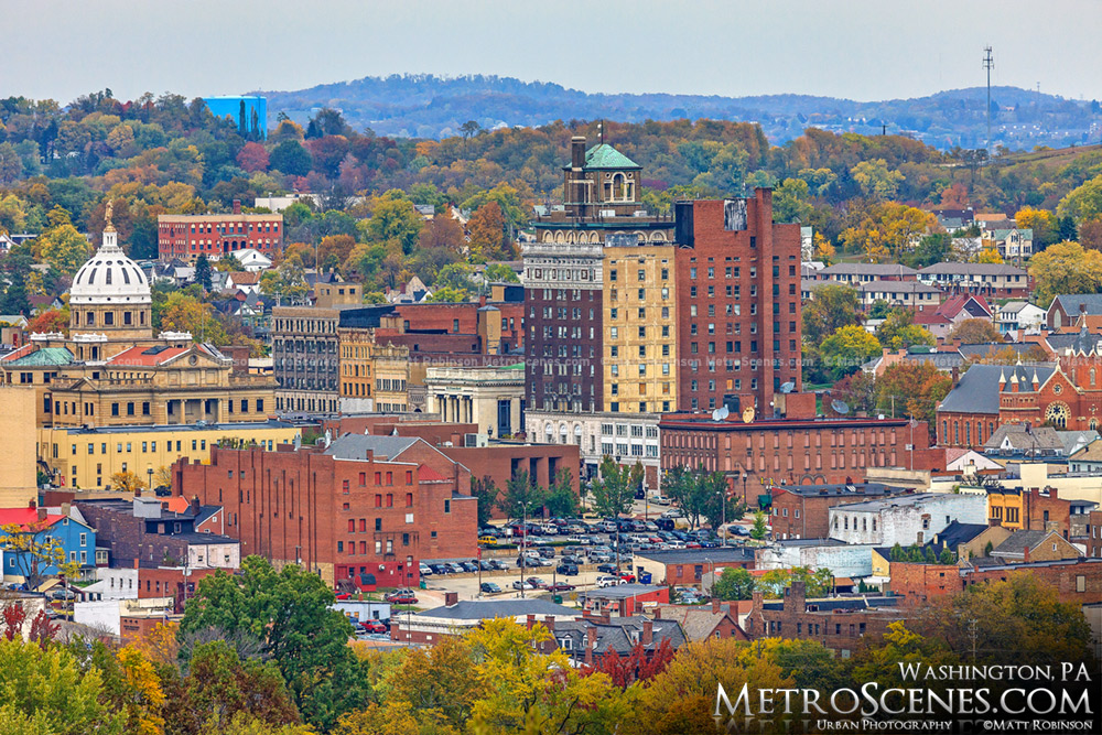 Fall colors around Washington, PA Skyline