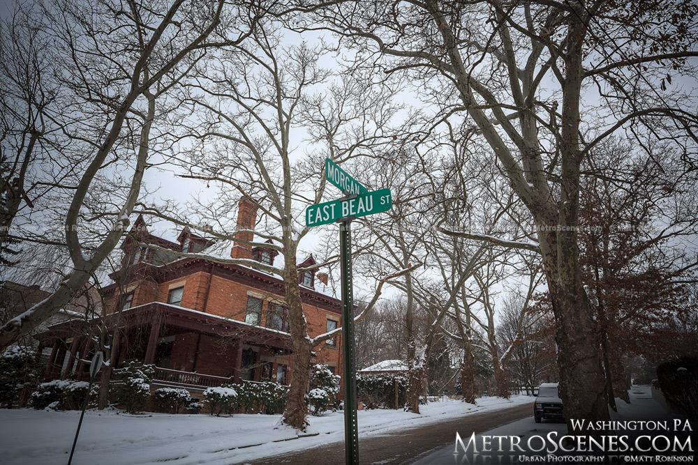Winter in Washington, PA