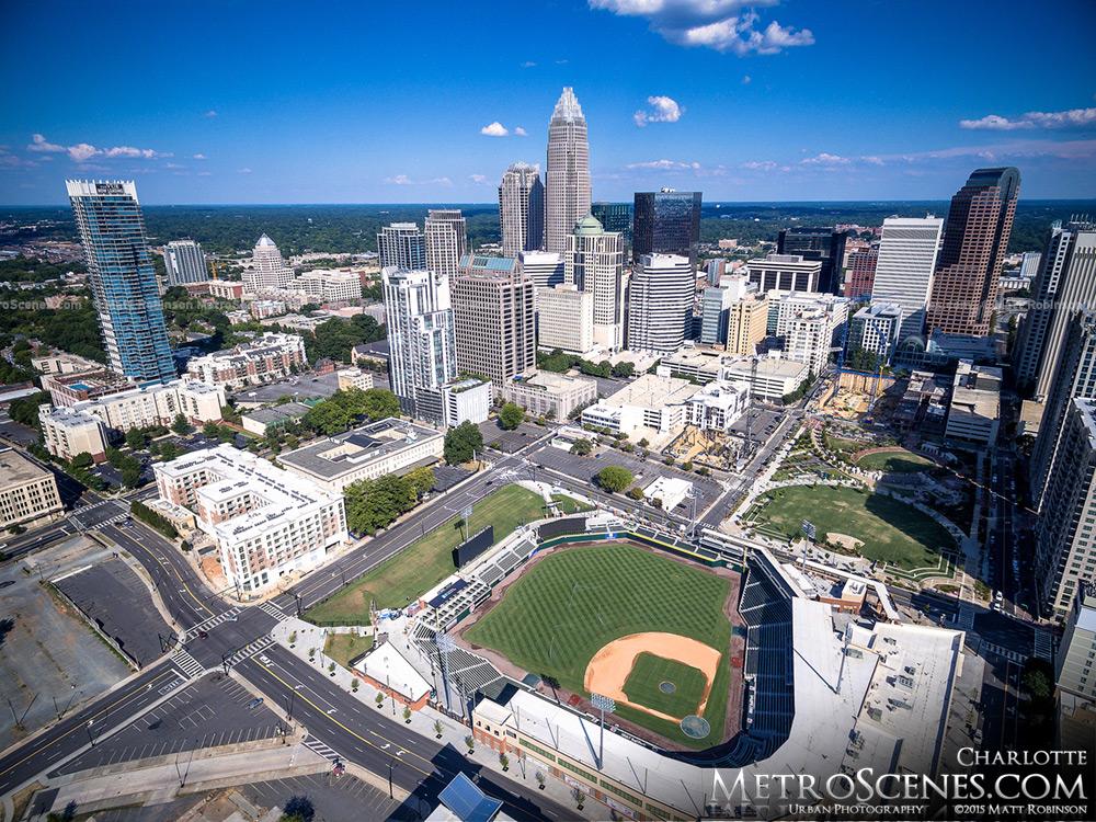 Charlotte Knights Baseball Stadium Aerial