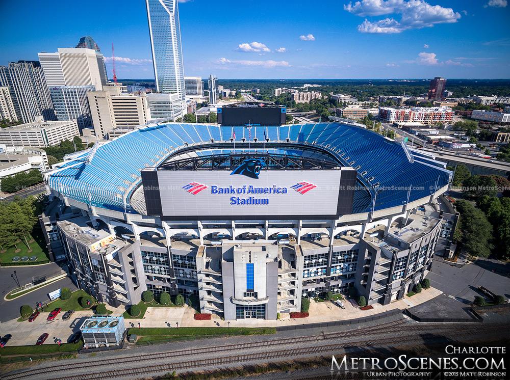 Bank of American Stadium Aerial
