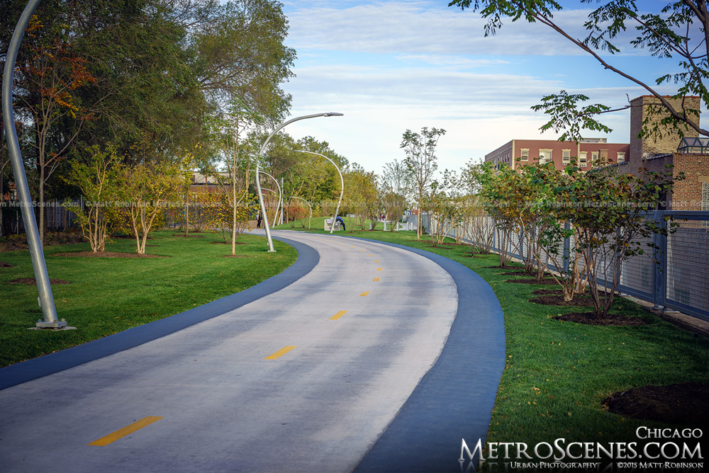 The 606 Bloomingdale Trail in Chicago in the Fall
