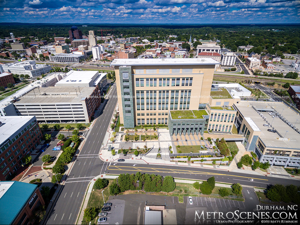 Aerial of Durham County Justice Center