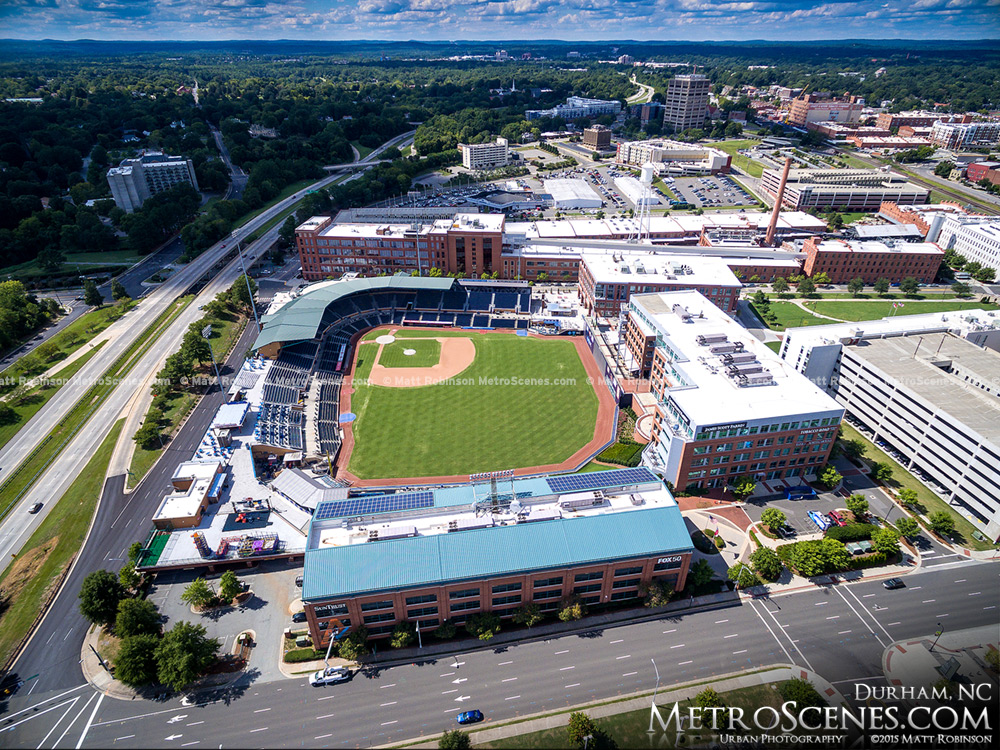 Over Durham Bulls Athletic Park