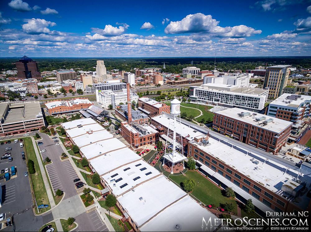 Downtown Durham North Carolina Aerial