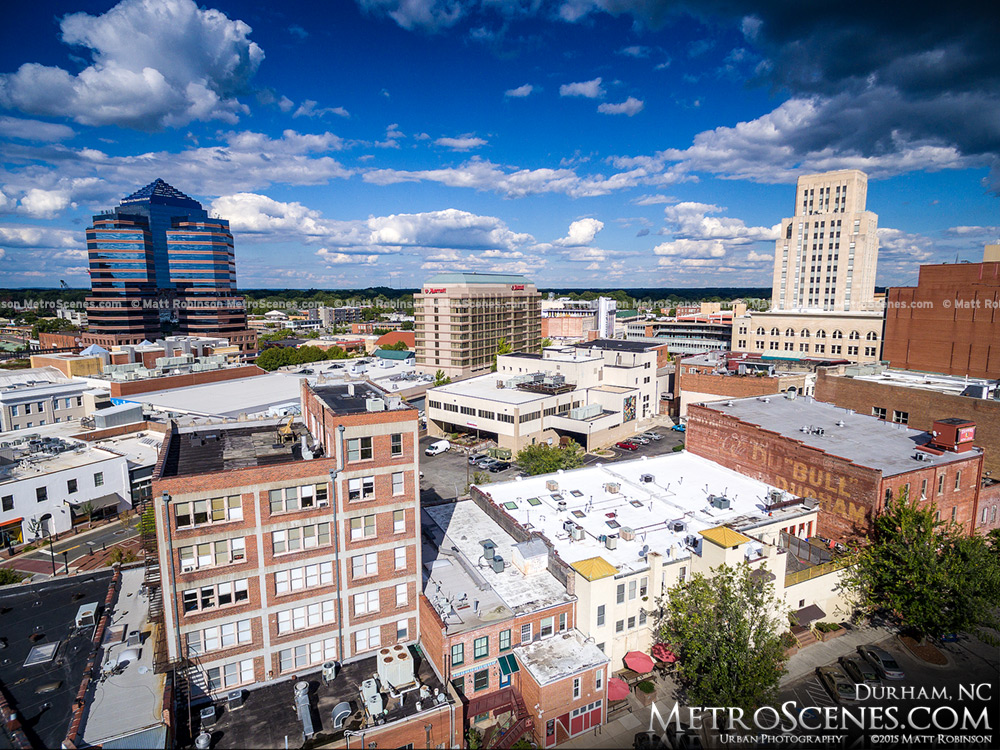 Downtown Durham Skyline Aerial