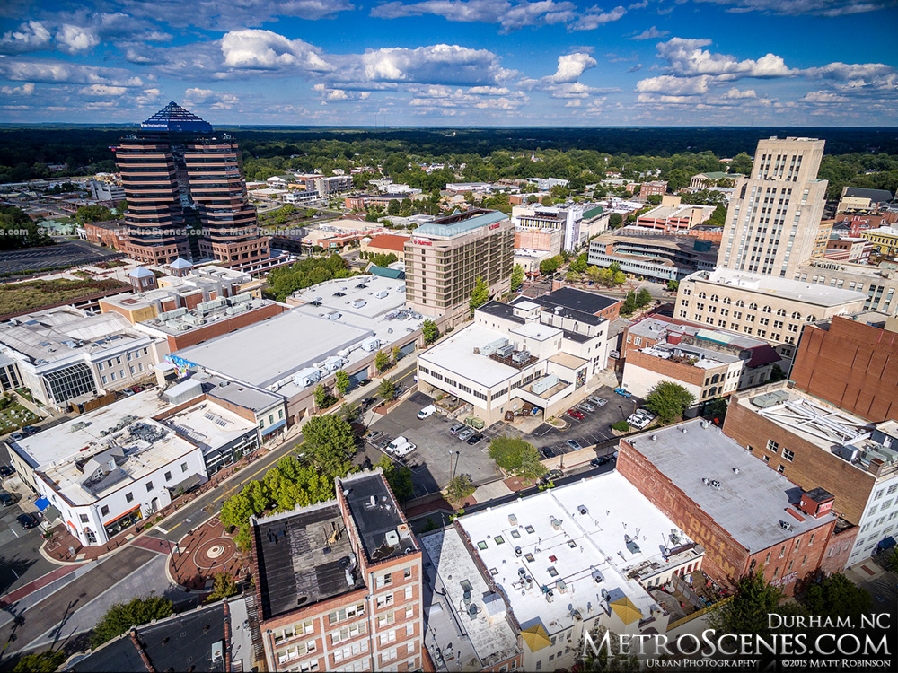Durham North Carolina Aerial Photograph