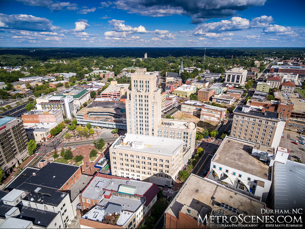 Former Suntrust Tower Aerial in Durham