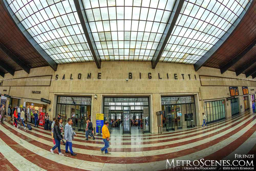 Fisheye of Firenze Santa Maria Novella Train Station