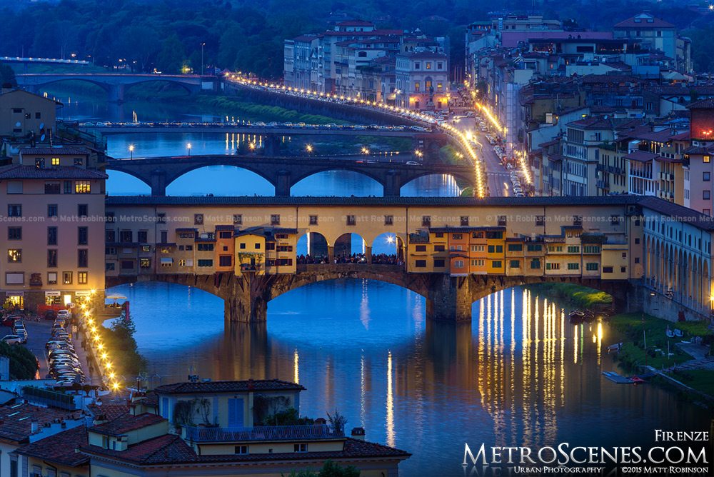 Ponte Vecchio at night from Piazzale Michelangelo