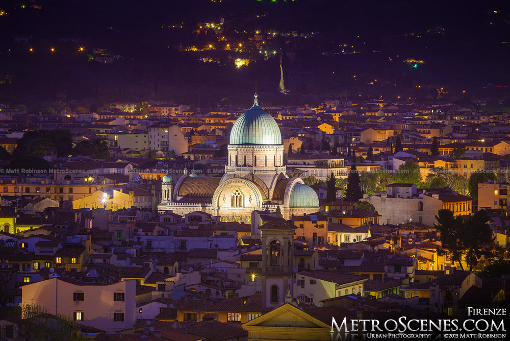 Great Synagogue of Florence at night