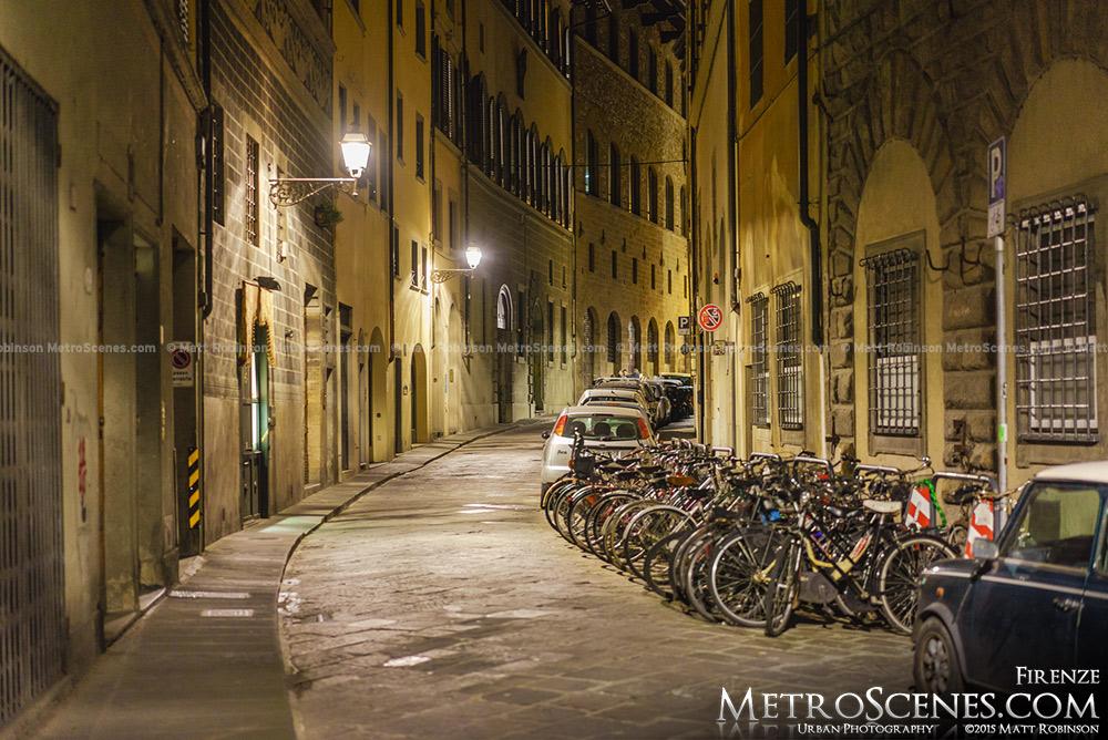 Via di San Niccolò at night