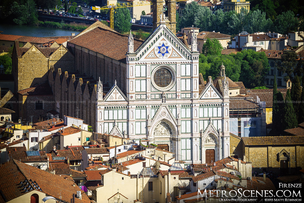 Basilica of Santa Croce, Florence from Giotto's Campanile