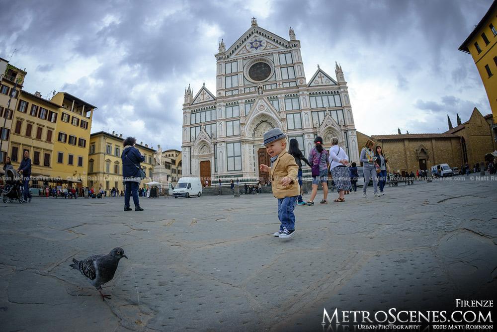 Baby in Piazza di Santa Croce, Florence
