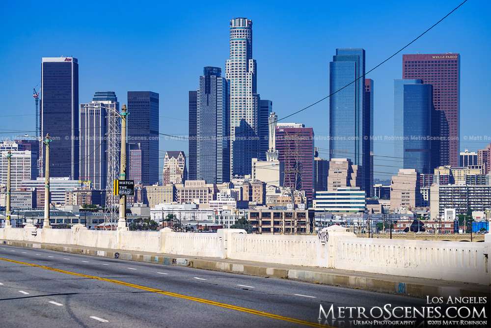 Downtown Los Angeles from the Sixth Street Viaduct and Whittier Boulevard